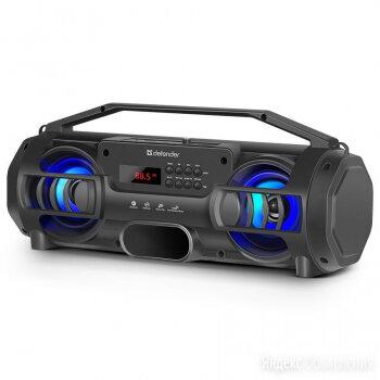 ПОРТАТИВНАЯ КОЛОНКА DEFENDER G104 12ВТ BT, FM,USB С ПОДСВЕТКОЙ по цене 3850₽ - Компьютерная акустика, фото 0