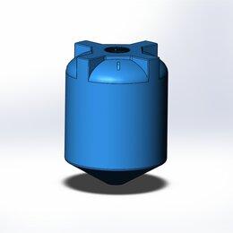 Баки - Пластиковый бак объемом 5 кубов. С конусным дном., 0