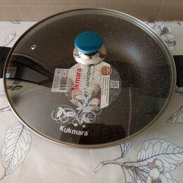 Сковороды и сотейники - Сотейник Kukmara смк308а кофейный мрамор (30 см), 0