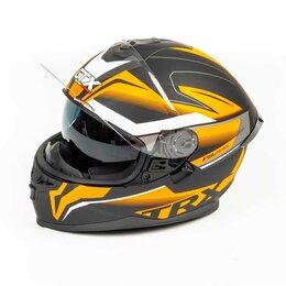 Мотоэкипировка - Шлем мото интеграл GTX 5672 (M) #2 BLACK/FLUO ORANGE GREY (2 визора), 0