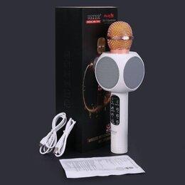 Микрофоны - Беспроводной караоке микрофон Wster WS-1816 с Led подсветкой, 0