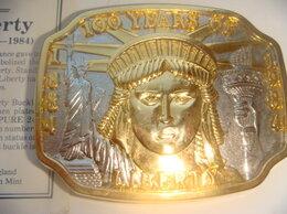 Ремни и пояса - Пряжка для ремня серебро позолота 100 лет Статуе…, 0