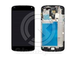 Дисплеи и тачскрины - Дисплей для LG Nexus 4 E960 в рамке +тач черный, 0