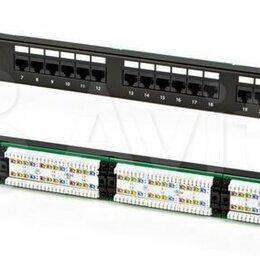 """Кабели и разъемы - Патч-панель 19"""", 24 порта RJ45 атс, сеть, скс, б/у., 0"""