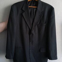 Пиджаки - Пиджак мужской черный в тонкую полоску, разм. 54-56, 0