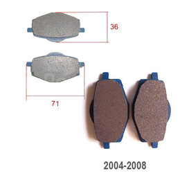 Запчасти  - Колодка тормозная YBR125 старого образца,Serow…, 0