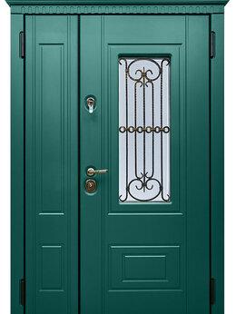 """Входные двери - Уличная двупольная дверь"""" Сорренто"""" с окном и…, 0"""
