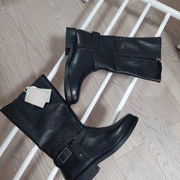 Сапоги - Новые кожаные сапоги Зара, 0