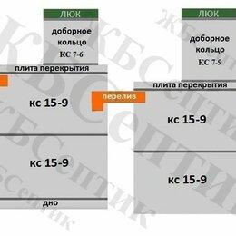 Септики - Переливной септик КС 15-9(2д-2д) из Ж/Б колец, 0