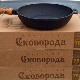 Сковороды и сотейники - Сковорода чугунная 240/60 д. р, 0