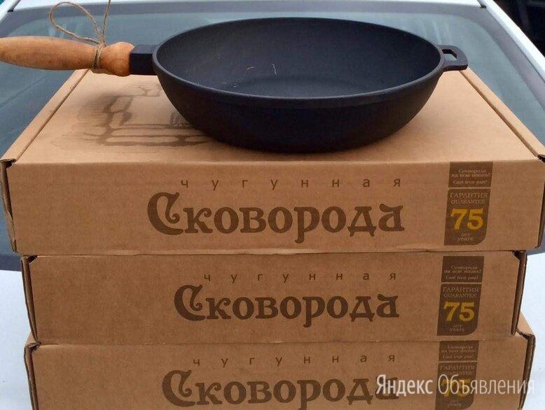 Сковорода чугунная 240/60 д. р по цене 1500₽ - Сковороды и сотейники, фото 0