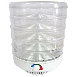 Сушилки для овощей, фруктов, грибов - Сушилка Спектр-Прибор ЭСОФ-0.6/220 Ветерок-2 прозрачный (5 поддонов), 0