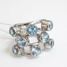 Кольца и перстни - Кольцо из белого золота  с топазами,18, 0
