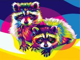 Раскраски и роспись - Картины по номерам Paintboy радужные еноты, 0