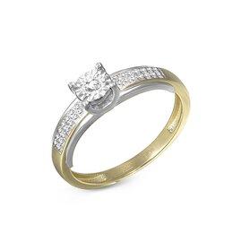 Кольца и перстни - Кольцо с 29 бриллиантами из комбинированного золота, 0