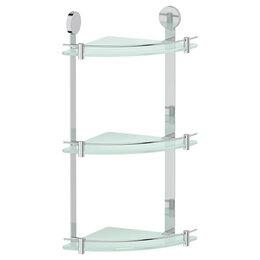 Полки, шкафчики, этажерки - Полка стеклянная угловая тройная Harmonie Artwelle HAR 041, 0