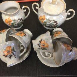 Кружки, блюдца и пары - Чайный набор 15 предметов, 0