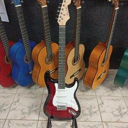 Электрогитары и бас-гитары - Электрогитара формы Stratocaster Fabio Красная, 0