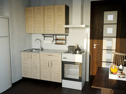 Мебель для кухни - Кухонный гарнитур Лира мини 1200мм (101434), 0