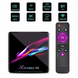 ТВ-приставки и медиаплееры - Смарт ТВ-приставка X88 PRO X3 Android 9,0 4\32гб, 0