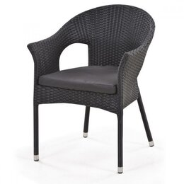 Плетеная мебель - Кресло плетеное Y97A Black, 0