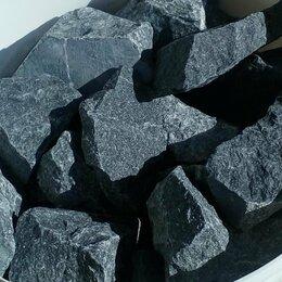 Камни для печей - Камень для банной печи Пироксенит черный принц колотый средний, 0