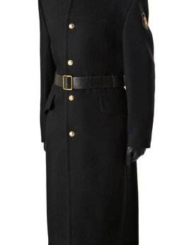 Пальто - Шинель (пальто) ВМФ с зол.пуг, однобортная черная, 0