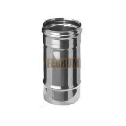 Дымоходы - Дымоход 125 (L=0,25) (430/0,5мм) нержавеющая сталь Феррум (4 шт/упак), 0