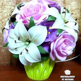 Ночники и декоративные светильники - Букет с розами и лилиями. Ночник. , 0