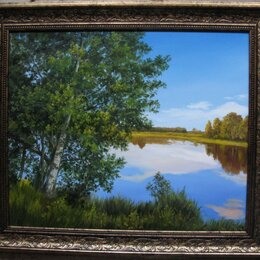 Картины, постеры, гобелены, панно - Береза над водой. 50х60см, 0