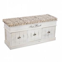 """Банкетки и скамьи - Скамья с тремя ящиками белая """"Хранение&Интерьер"""", 0"""