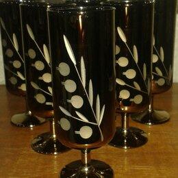 Бокалы и стаканы - Рюмки хрустальные  с зеркальным напылением . СССР, 0