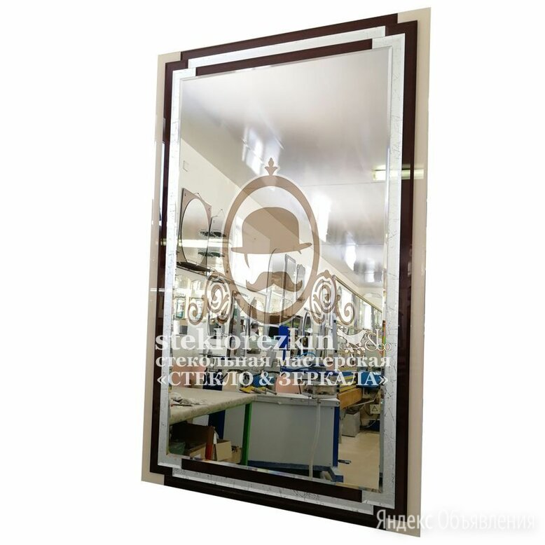 Зеркало ©️ №127 со стильной трёхцветной рамкой - окантовкой по цене 4980₽ - Зеркала, фото 0
