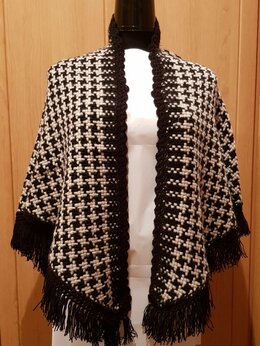 Шарфы и платки - Шаль ( плетение на рамке ), 0