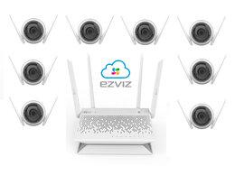 Камеры видеонаблюдения - Комплект на 8камер ezviz C3WN +Vault Plus, 0