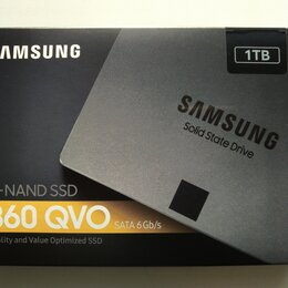 Жёсткие диски и SSD - Samsung SSD 860 QVO 1TB, 0