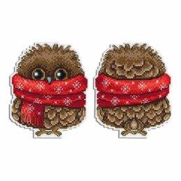 Рукоделие, поделки и товары для них - Набор для вышивки крестиком Зимний совёнок (11х9…, 0