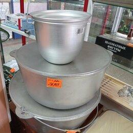 Туристическая посуда - котелок походный алюминиевый конический травленный объем 4.5 литров, 0
