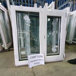 Окна - Окно пластиковое двустворчатое 1100*1100, 0