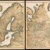 Гравированная кабинетная карта 1758 года России и северных стран S6710 по цене 220000₽ - Гравюры, литографии, карты, фото 0