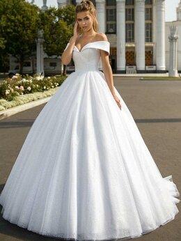 Платья - Белое пышное блестящее свадебное платье с…, 0