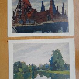 Открытки - 2 открытки формата А5, картины художницы Остроумовой-Лебедевой., 0