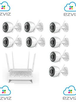 Камеры видеонаблюдения - Комплект на 8камер ezviz С3N +Vault Plus, 0