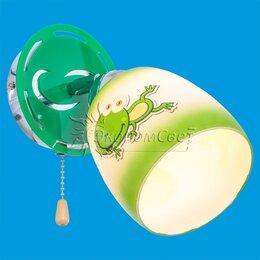 Люстры и потолочные светильники - Бра для детской. 3182 / 1wCR WT + GN, 0