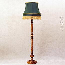Торшеры и напольные светильники - Торшер с зеленым абажуром  в ретро стиле , 0