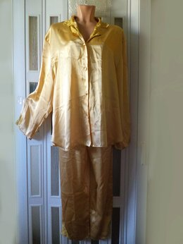 Домашняя одежда - АТЛАСНАЯ ПИЖАМА шикарная - ТУНИКА+ БРЮКИ -…, 0