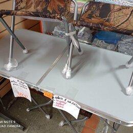 Походная мебель - комплект складной мебели Ника-ССТ-К2-стол+4 стула для отдыха на природе, 0