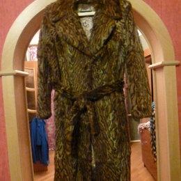 Шубы - Натуральное пальто леопардового цвета, 0