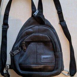 Сумки - Сумка через плечо, рюкзак, унисекс, плотная ткань, 0