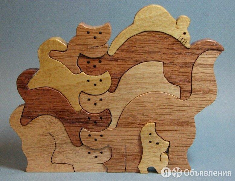 """Деревянный пазл """" Кошачье семейство"""" по цене 250₽ - Игровые наборы и фигурки, фото 0"""
